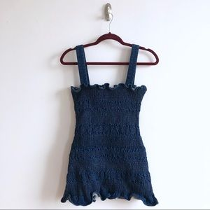 Urban Outfitters Ruched Denim Mini Dress